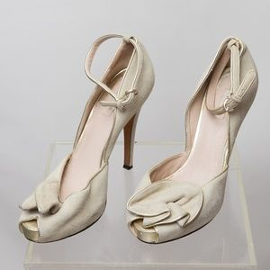 Reiss Suede floral heels Size 9